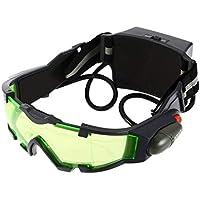 ZengBuks Gafas Eyeshield Lente Verde, Gafas de Seguridad de Trabajo Industrial de visión Nocturna de Banda elástica Ajustable, Gafas de Lectura de Moda