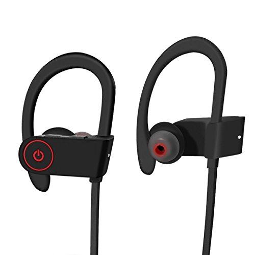 Wireless Bluetooth Kopfhörer/Noise Cancelling In-Ear Sport-Kopfhörer/safsou Wasserdicht Gym in-Ear–Unterstützung für Laufen, Joggen, Schwimmen–Kompatibel mit iPhone, iPad, Android Handys (Omni-8-schuh)