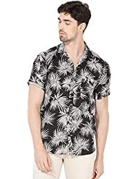 Vajor Men's Multicolored Floral Casual Shirt