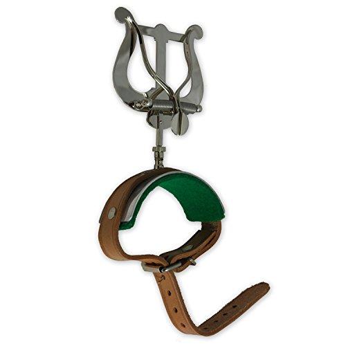 Tuyama® Marschgabel für Querflöte mit Lederarmband Flötenmarschgabel Querflötenmarschgabel Flöte Notenhalter Lyre Lyra Flute