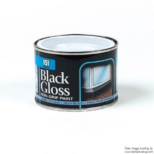 180ml Beschichtungen: Eisentor schwarz Glanzlack Originalverpackung