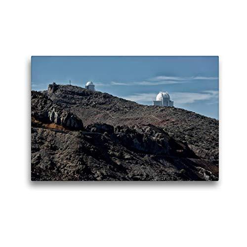 Calvendo Premium Textil-Leinwand 45 x 30 cm Quer-Format La Palma - Observatorium | Wandbild, HD-Bild auf Keilrahmen, Fertigbild auf hochwertigem Vlies, Leinwanddruck von Angelika Stern Natur Natur (Home-observatorium)