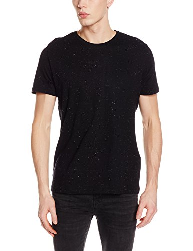 JACK & JONES PREMIUM Herren T-Shirt JPRNAPS BOKS Tee SS Crew Neck EXP, Schwarz (Black Fit:Reg Fit), Medium