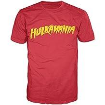 WWE Hulk Hogan Hulkamania Logo oficial para hombre camiseta T (rojo)