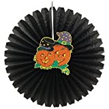 Partysanthe Halloween Pumpkin Printed Paper Fan/Accordion Hanging Paper Fan Decoration New