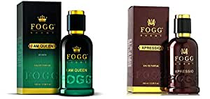 Fogg I Am Queen Scent For Women, 100ml And Fogg Xpressio Scent For Men, 100ml