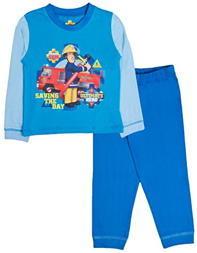 Fireman Sam Pyjamas Boys Long Sleeve PJ Set Ages 18 Months To 5 Years