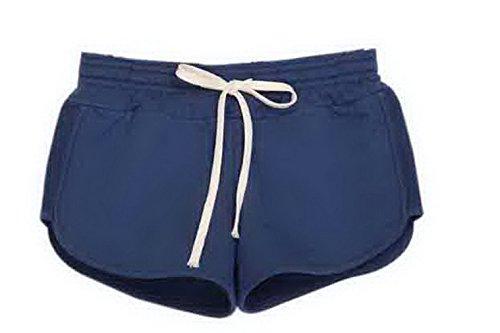 Y-BOA 1Pc Short Court En Coton Femme Taille S Sport/Mince Violet
