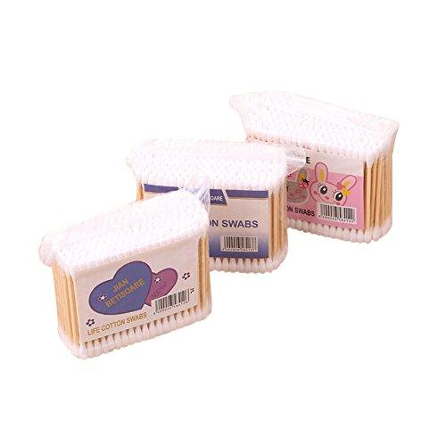 Joyfeel buy Bastoncillos de Algodón Bastoncillo Oido con Mangos de Bambú para Limpieza y Maquillaje, 200 por Paquete