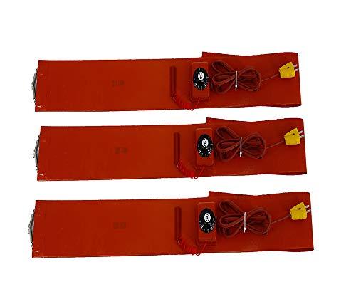 YXS Standard Heavy Duty Poly Drum Heater, Einstellbare Höhe Heizung Thermostat, Geeignet für, Plastikeimer, Metall Eimer, Honig Eimer, Farbeimer, 5in Breite, Länge 68in -3 Stück,110V -
