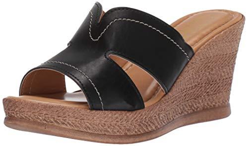Easy Street Frauen Platform Sandalen Schwarz Groesse 8.5 US /39.5 EU - Pointy Toe Knee High Boots