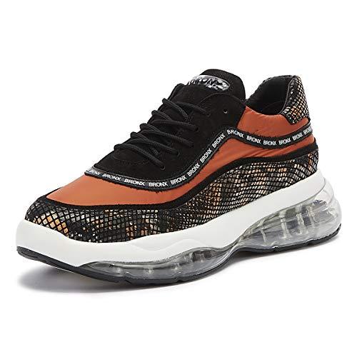 Bronx Bubbly Damen Schwarz/Orange Chunky Sneakers-UK 3 / EU 36