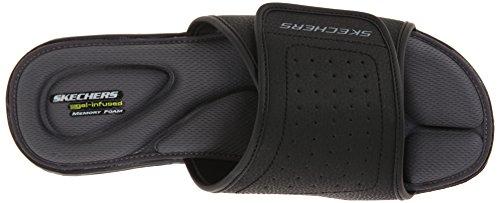 Skechers Sport Vento diapositive Swell Sandalo Nero (nero)