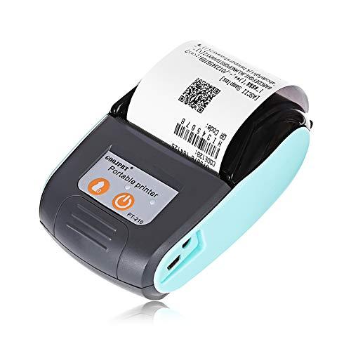 LSQ Tragbare Mini thermische tragbare drahtloser Bluetooth-Drucker 58MM drahtloser Empfang Maschine für Windows Android Ios,A