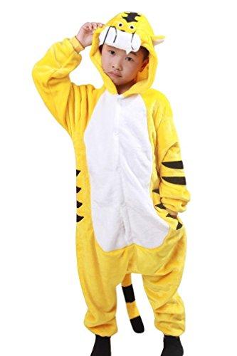 Honeystore Kind's Unisex Tiger Tier Siamesische Kleidung Pyjamas Jumpsuit Cosplay Kostüme (Kostüme Spiderman Erwachsene Body Für)