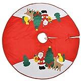 Weihnachtsbaumdecke Polyester 100 cm, Weihnachts Tannen Christ Baum Platz Decke (LHS)