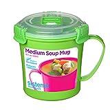 Sistema Klip SI Einzeln Microwelle Soup to Go Tazza, 656ml, Gemischte Farben