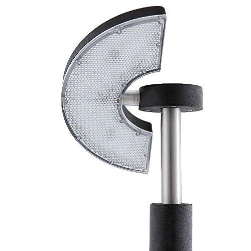 LED rotative à 350° - 3,6 w, en acier inoxydable revêtu par poudre-couleur: noir