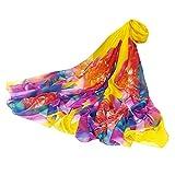 NEEDRA Frauen-Damen-Schal, der Blumen-Sonnencreme-Schal-Wrap-Silk Schal-Schals spritzt