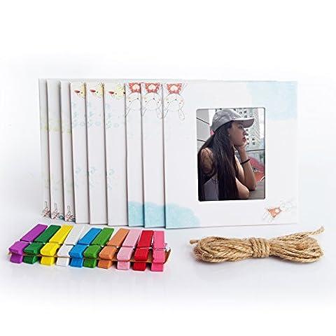 Woodmin 3- pouces Colorful Décor Wall Hanging Cadre combiné pour