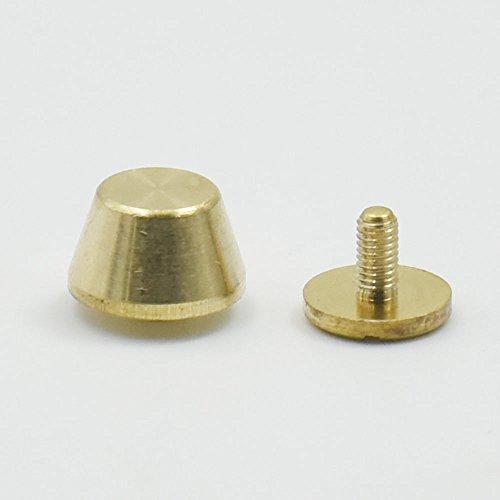 25Stück Messing mit Schraubverschluss Füße Größe 10mm 11mm 12mm Schraube Kopf Handtasche Nagelköpfe Ohrstecker Spike Spot, bronze, 10mmx6mm - Armband-handle-handtasche