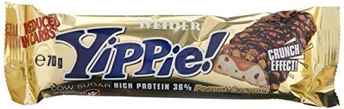 Weider YIPPIE! Bar, Peanut-Caramel, 1er Pack (12x 70g Riegel)