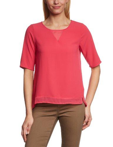 VERO MODA Damen Bluse 10089551 Balilu 2/4 Top Pink (Raspberry)
