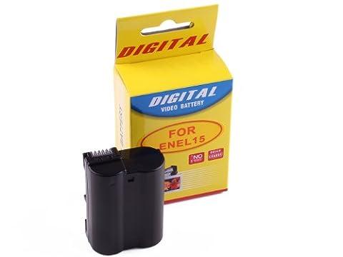 CrazyCable EL15 Marken Ersatz Akku für Nikon EN-EL15/Nikon D800/D800E/D7100/D7000/D600/Nikon 1 V1