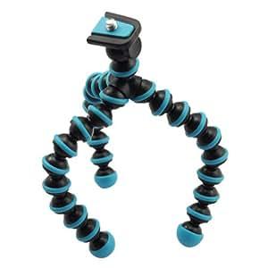 BestOfferBuy 6.5in Mini Portable Flexible Ball Legs Digital Camera DC Tripod Blue
