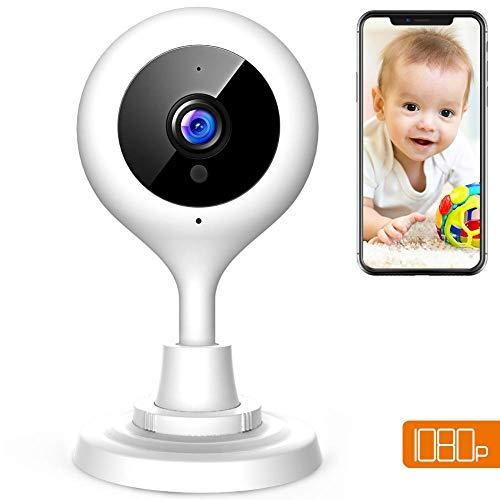 APEMAN WLAN Kamera 1080P Überwachungskameras Babyphone Fernüberwachung Nachtsicht Heimüberwachung Haustier Kamera Wireless mit iPhone/Android Allgemeine Gerät kompatibel (Iphone-security-kamera, Wireless)