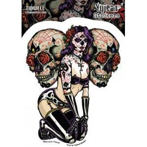 YUJEAN Sticker. Hochwertige Aufkleber aus Vinyl fuer Motorrad, Roller, Helm, Auto, Boards etc (Dekorative Magnet-board)