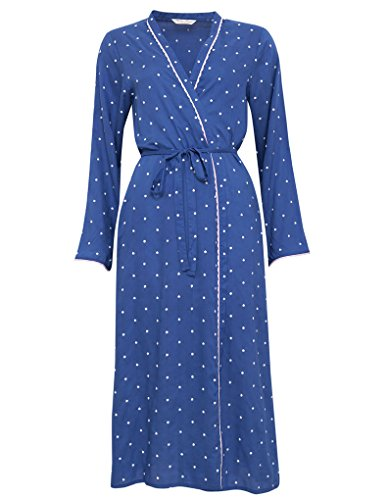 Cyberjammies 1167 Women's Nora Rose Blue and White Spotty Modal Robe 44 EU (Womens Roben Modal)