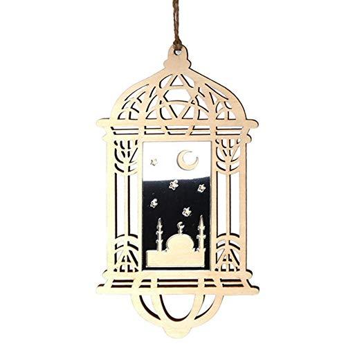 Eruditter Islam Eid Ramadan Mubarak hohlen Dekorationen aus Holz goldene hängende Laterne Mit Schlüsselband