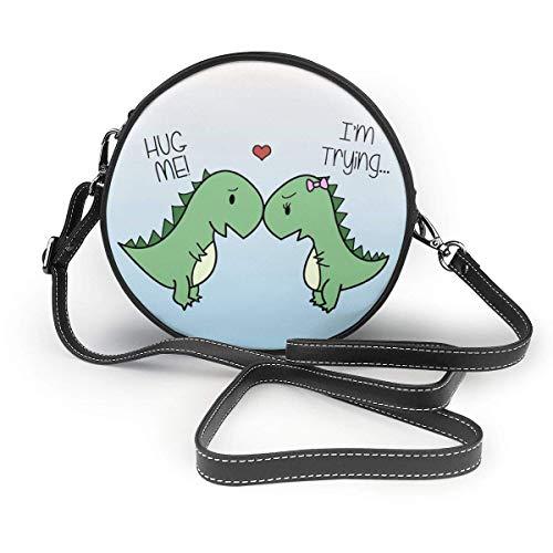 Crossbody Taschen Cute Crossbody Shoulder Bag for Mini Clutch Purse Wristlet - Cute Dinosaurs Hug Me, I\'m Trying