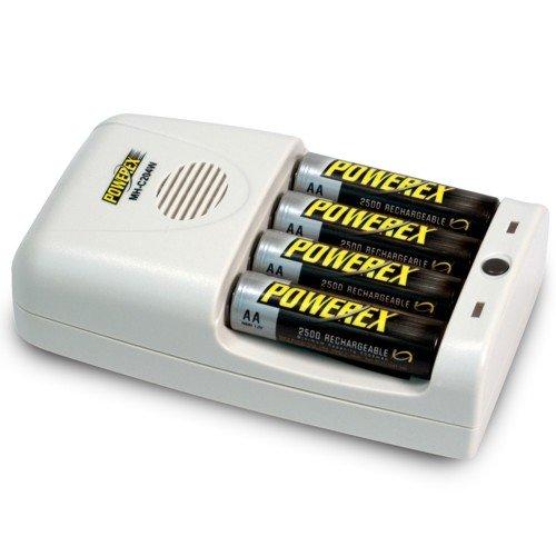 Powerex intelligente-Caricabatterie tascabile per 4 batterie AAA NiMH