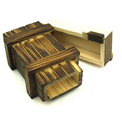 Amasawa Caja Secreta,Caja De Regalo De Madera Mágica, para Regalos Creativos, Joyas y Dinero (Sola Caja Abierta)