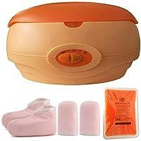 Calentador de parafina baño Cera de parafina Calentar Rápido+una caja parafina +Juego botines aguantes