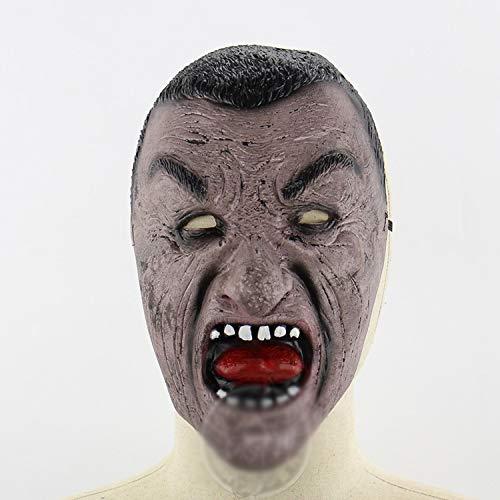 TYXHZL Halloween Black Face Man Lustige Maske Halloween Haunted House Room Escape Dress Up Lustige Live-Performance-Maske
