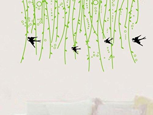 Lifme Wandaufkleber Umweltfreundlich Entfernbare Grüne Blattrebe Schlafzimmerwohnzimmer-Wanddekoration Sofahintergrund-Wanddekoration