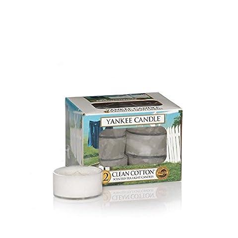 Yankee Candles Teelicht Kerzen - Clean Cotton