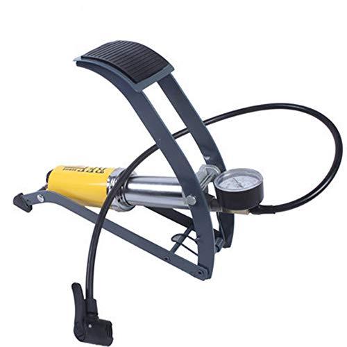 Fahrradpumpe Fuß Typ Tragbares Fahrrad Elektrofahrzeug Mountainbike Basketball Hochdruckpumpe mit Manometer -