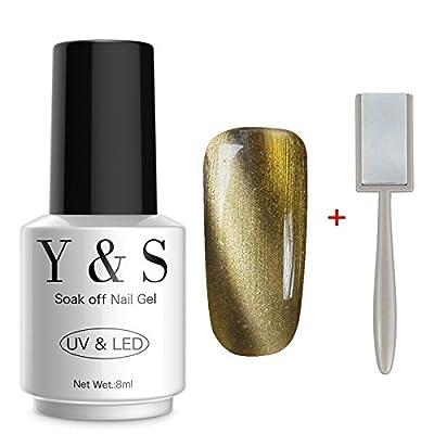 Y&S Gel Nail Polish Magnetic 3D Cat Eye Nail Art Varnish UV LED Gel Polish + Free Magnet Stick 8ML #01