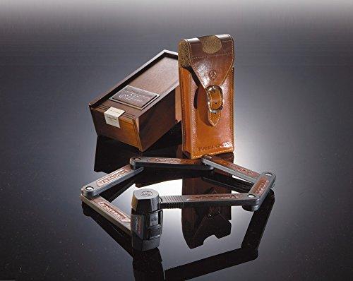 Faltschloss Trelock Manufaktur in Holzk. FS 450/85, schwarz, mit Ledertasche