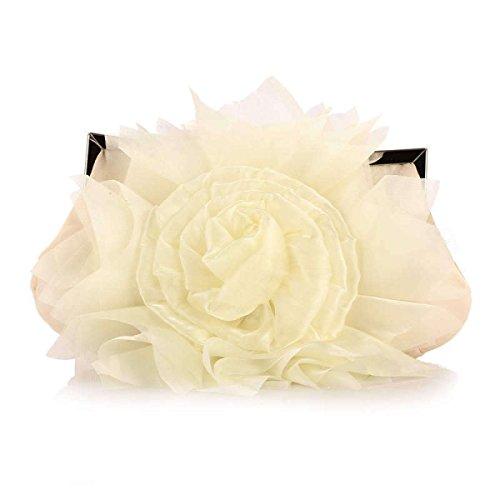 Borsa Moda Banchetto Rose Borsa Da Sera Moda Cena Borsa Da Sposa Beige