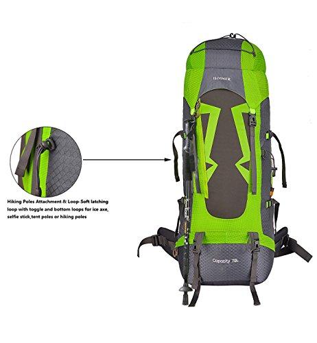 Imagen de  de senderismo,impermeable  de trekking con cubierta lluvia para paquete del alpinismo escalada marcha trekking camping deporte al aire libre alternativa