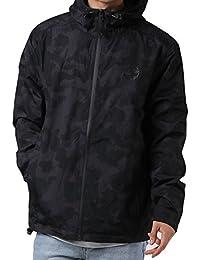 Timberland Mens Waterproof Hooded Jacket in Black- Zip Fastening- Zip Pockets to