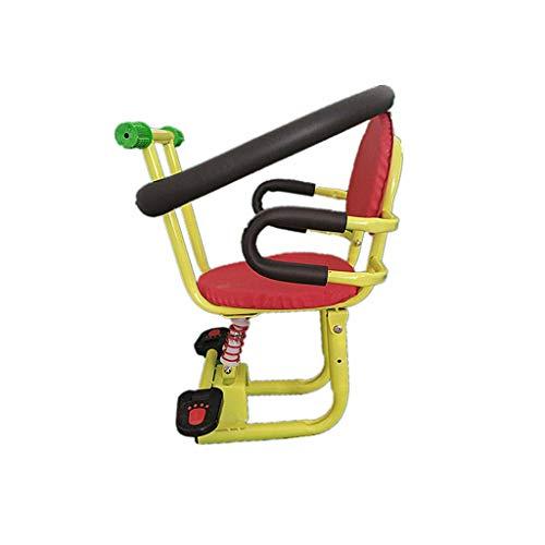 FEFEFEF Elektroauto vorne Kindersitz Motorrad Batterie Auto Fahrrad Roller vorne Sicherheitssitz,Yellow