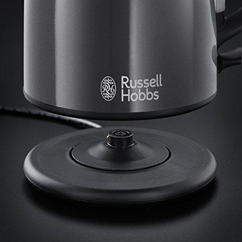 Russell Hobbs 20192-70 Colours Storm Grey Kompakt-Wasserkocher (2200 Watt, 1 l, Sicherheitsdeckel, kabellos) grau - 5