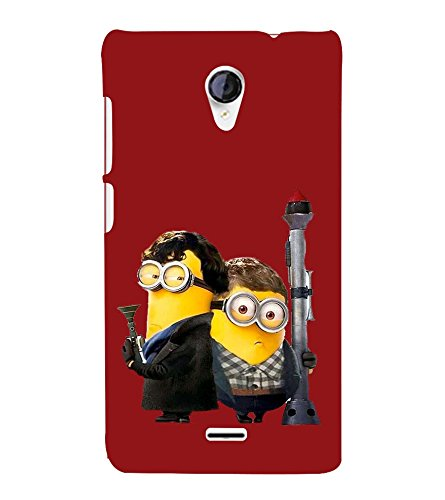 printtech Minions Back Case Cover for Micromax Canvas Unite 2 A106