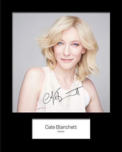 FRAME SMART CATE Blanchett #2 | Signierter Fotodruck | 10x8 Größe passt 10x8 Zoll Rahmen | Maschinenschnitt | Fotoanzeige | Geschenk Sammlerstück